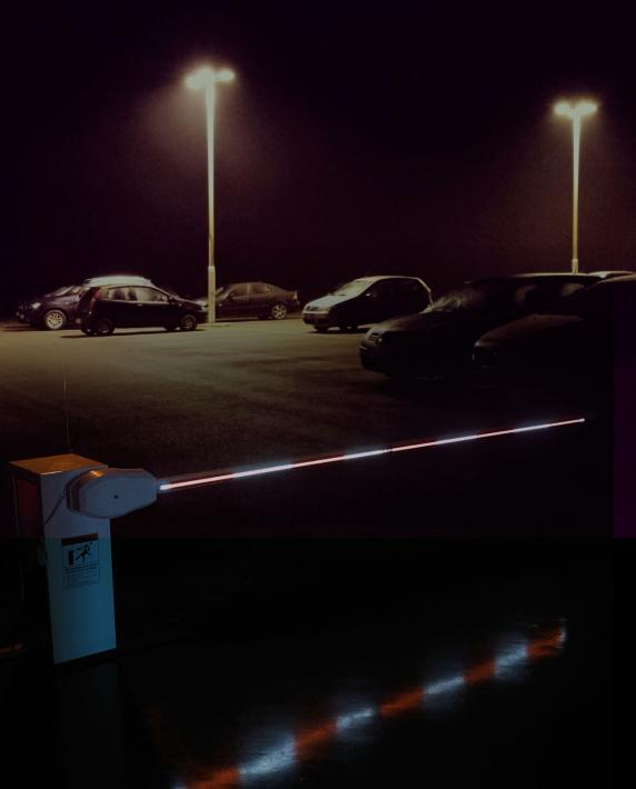 Lighted Barrier Arms | Doorking - Access Control Solutions